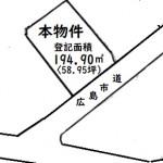 東区光が丘土地 敷地面積194.90㎡(58.95坪)です。
