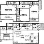東区中山新町2丁目新築 建物面積98.82㎡。4LDKの間取りです。
