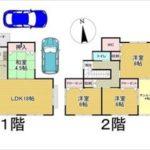 東区牛田早稲田2丁目新築 建物面積115.09㎡。4LDK+ロフトの間取りです。