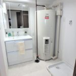 みゆきパークマンションB棟 洗面室もリフォームで美麗です