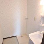 ロイヤルアーク光が丘 洗面室に室内洗濯機置場もあります