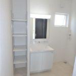 呉市焼山宮ヶ迫1丁目新築 三面鏡付き洗面化粧台で身支度もスムーズにできます♪
