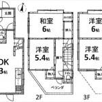 東区福田4丁目中古 建物面積92.83㎡。4LDKの間取りです。