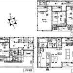 中区南千田東町新築 建物面積107.22㎡。2LDK+2納戸の間取りです。
