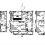 南区宇品東7丁目新築 建物面積121.27㎡。4LDKの間取りです。
