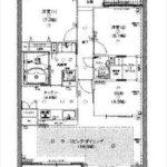 広島ガーデンガーデンノースタワー 専有面積84.90㎡。2LDK+DEN+WTCの間取りです。(間取)