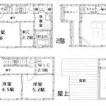 中区光南2丁目新築 建物面積113.43㎡。4LDKの間取です。(間取)