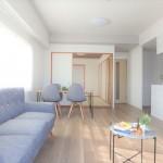 三篠公園パークホームズ リフォーム済みの室内♪家具が付いて新生活もスムーズにスタートできますね♪