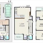 中区吉島西1丁目新築 建物面積83.43㎡。3LDKの間取りです。