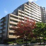 センチュリーパーク千田町南棟 外観。15階建ての9階部分です。