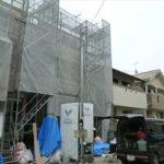 中区江波西2丁目新築 現地。令和3年7月上旬完成予定です。