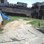東区牛田南2丁目土地 現地。建築条件無しの更地です。