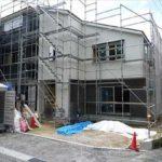 南区向洋大原町新築 外観。令和3年7月末完成済です。