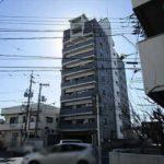 ベルシェ牛田本町 外観。9階建ての2階部分です。