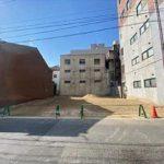 中区十日市町1丁目土地 現地。建築条件無しの土地です。