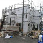 東区戸坂山根1丁目新築 現地。令和元年8月末完成予定です。