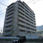 サンシティ安芸中野駅前  外観。10階建ての9階部分です。