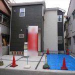 南区宇品御幸4丁目新築 外観。令和元年10月完成済です。