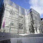 東区上温品2丁目新築 現地。木造2階建てです。