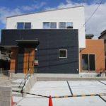 東区戸坂桜上町新築 外観。木造2階建てです。