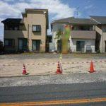 東区戸坂山根1丁目新築 現地。令和2年9月末完成予定です。