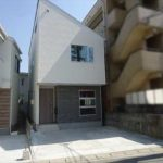 安芸郡府中町本町3丁目新築 外観。令和2年3月完成済です。