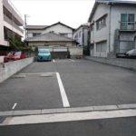 南区皆実町5丁目土地 現況貸駐車場です。
