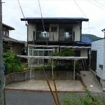 東区福田3丁目中古 外観。軽量鉄骨造2階建です。
