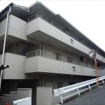 牛田東ハイツ 外観。4階建ての2階部分です。