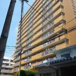 バルミーパーク横川 外観。13階建ての5階部分です。