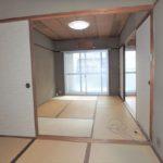 オアシスマンションプレジデント光ヶ丘 和室4.5帖側から和室6帖へ続く開放感