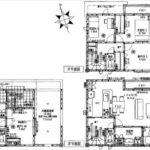 中区吉島新町1丁目新築 建物面積102.67㎡。2LDK+2納戸の間取りです。(間取)