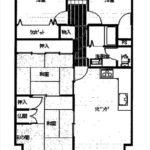 牛田旭CO-OPマンションB棟 専有面積82.97㎡。4LDKの間取りです。