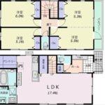 南区仁保2丁目新築 建物面積95.92㎡。4LDKの間取りです。