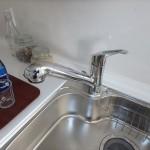 三篠公園パークホームズ キッチンに浄水器一体型水栓付き