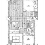 サーパス牛田天水苑 専有面積95.04㎡。3LDKの間取です。