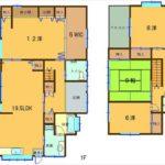 東区温品6丁目中古 建物面積149.75㎡。4LDK+WICの間取りです。(間取)