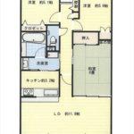 グラン・コート長楽寺 専有面積68.66㎡。3LDKの間取りです。