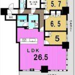 グランクロスタワー広島 専有面積100.00㎡。3SLDKの間取りです。(間取)