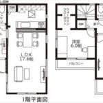 呉市焼山宮ヶ迫1丁目新築 建物面積91.10㎡。3LDK+WICの間取りです。