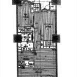 クラース八丁堀ザ・マーク 専有面積73.09㎡。2LDK+WICの間取りです。(間取)