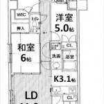 三篠公園パークホームズ 専有面積82.40㎡。4LDK+WICの間取りです。