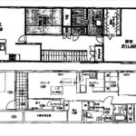 中区榎町(中古収益戸建) 建物面積179.60㎡、木・鉄骨造2階建てです。