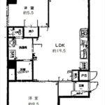 ロッコーマンション竹屋町 専有面積73.26㎡。2LDKの間取です。