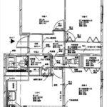 エメラルドマンション矢賀 専有面積61.36㎡。3LDKの間取りです。