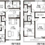 呉市焼山宮ヶ迫1丁目新築 建物面積99.80㎡。3LDK+WICの間取りです。