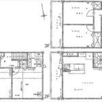 南区翠3丁目新築 建物面積121.71㎡。2LDK+2納戸の間取りです。(間取)