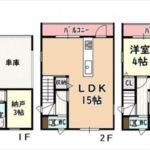 中区江波東1丁目新築 建物面積91.65㎡。3LDK+納戸の間取りです。