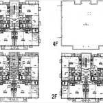 建物面積427.00㎡。1LDK×12世帯の賃貸住宅です。