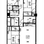 竹屋町マンション 専有面積69.84㎡。3LDKの間取です。